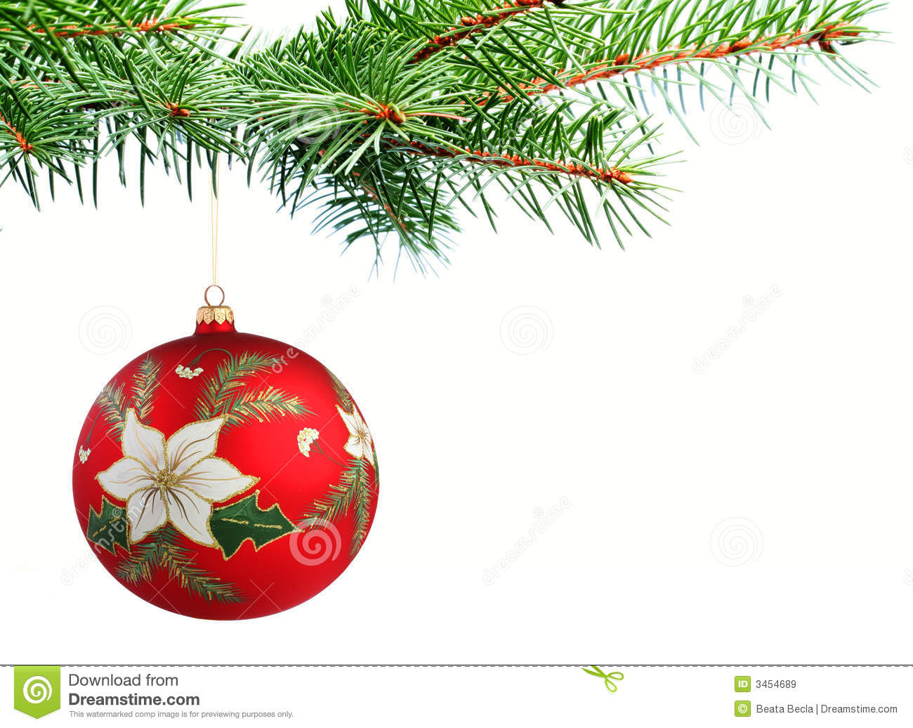 Christmas Tree Ball Placement : Christmas ball on a tree royalty free stock images image