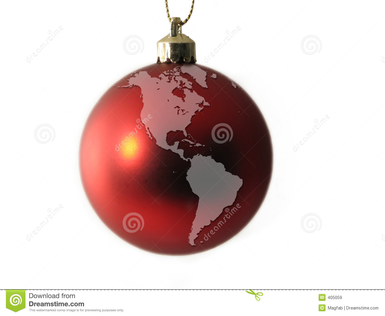 World globe christmas ornaments - America Ball Christmas Globe North South World