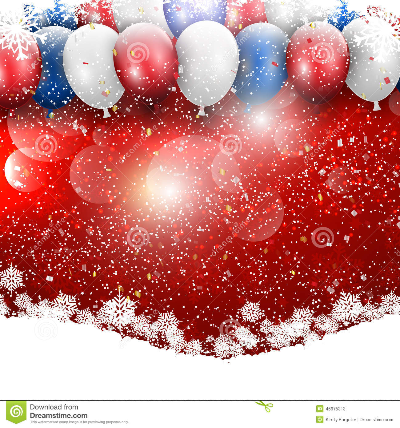 Christmas Balloons Background Stock Vector Image 46975313