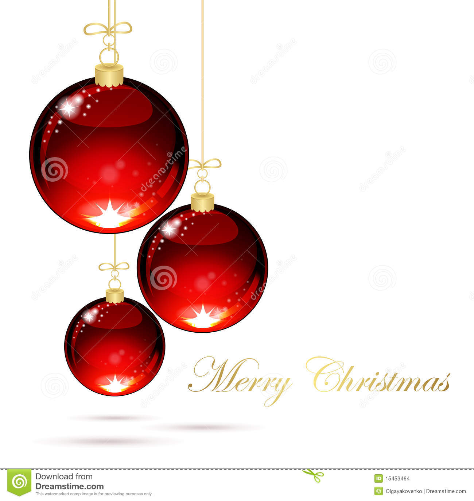 Download Christmas Balls Stock Vector Illustration Of Fun Ribbon