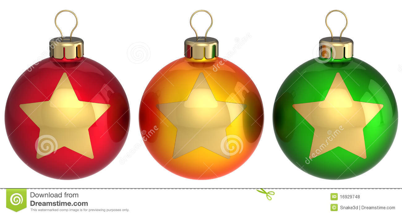Christmas Decorations 3d Shapes Ks2 : Christmas balls baubles multicolored royalty free stock