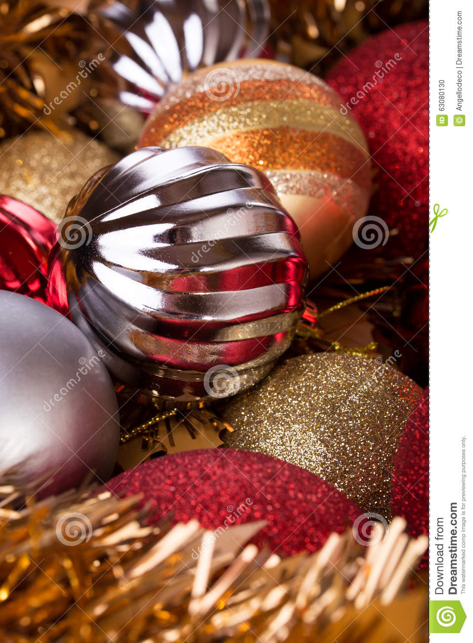 Christmas balls decorative for holiday vertical