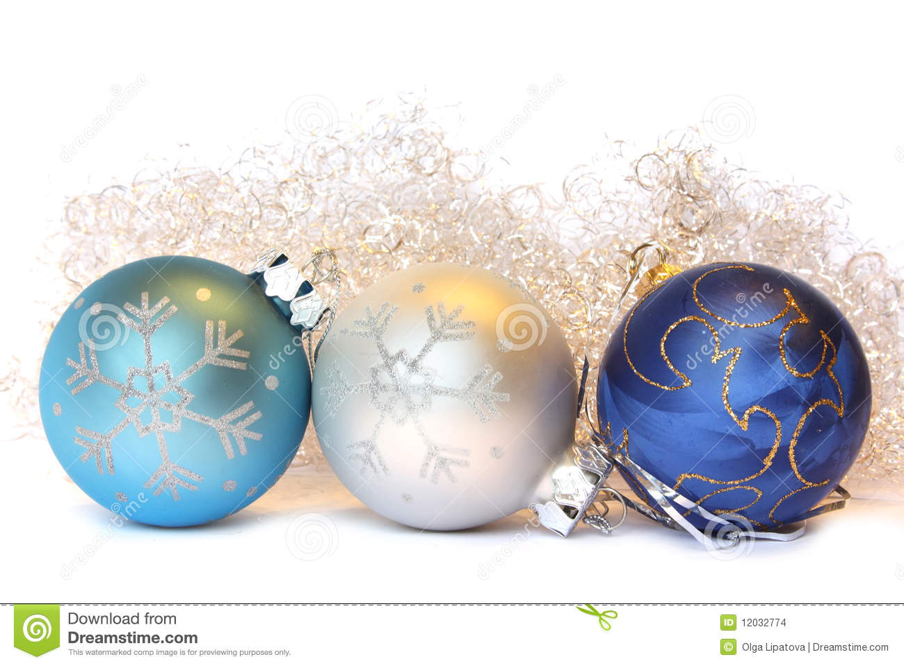 Christmas balls and a tinsel stock images image