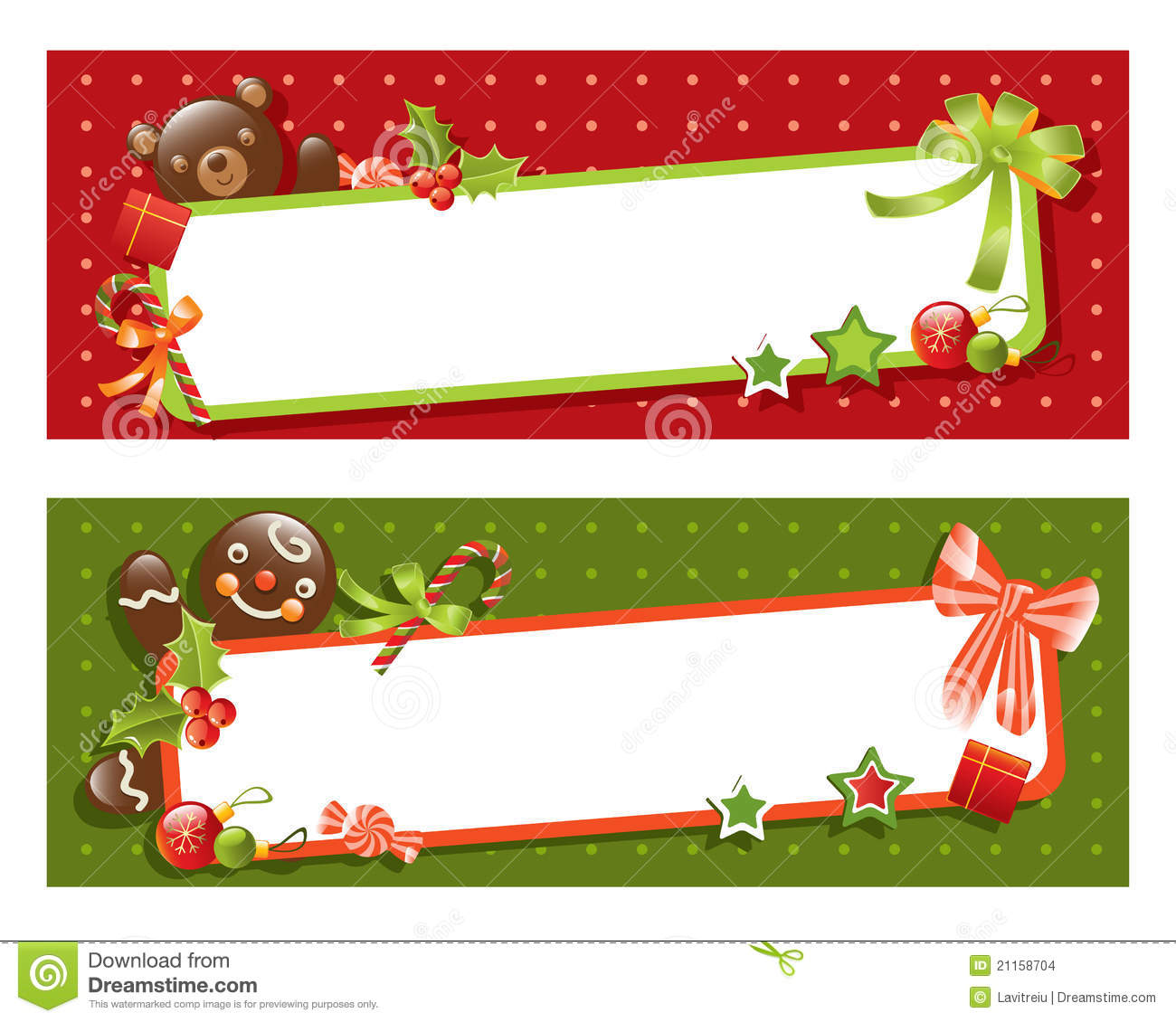 Christmas Banner Stock Images - Image: 21158704