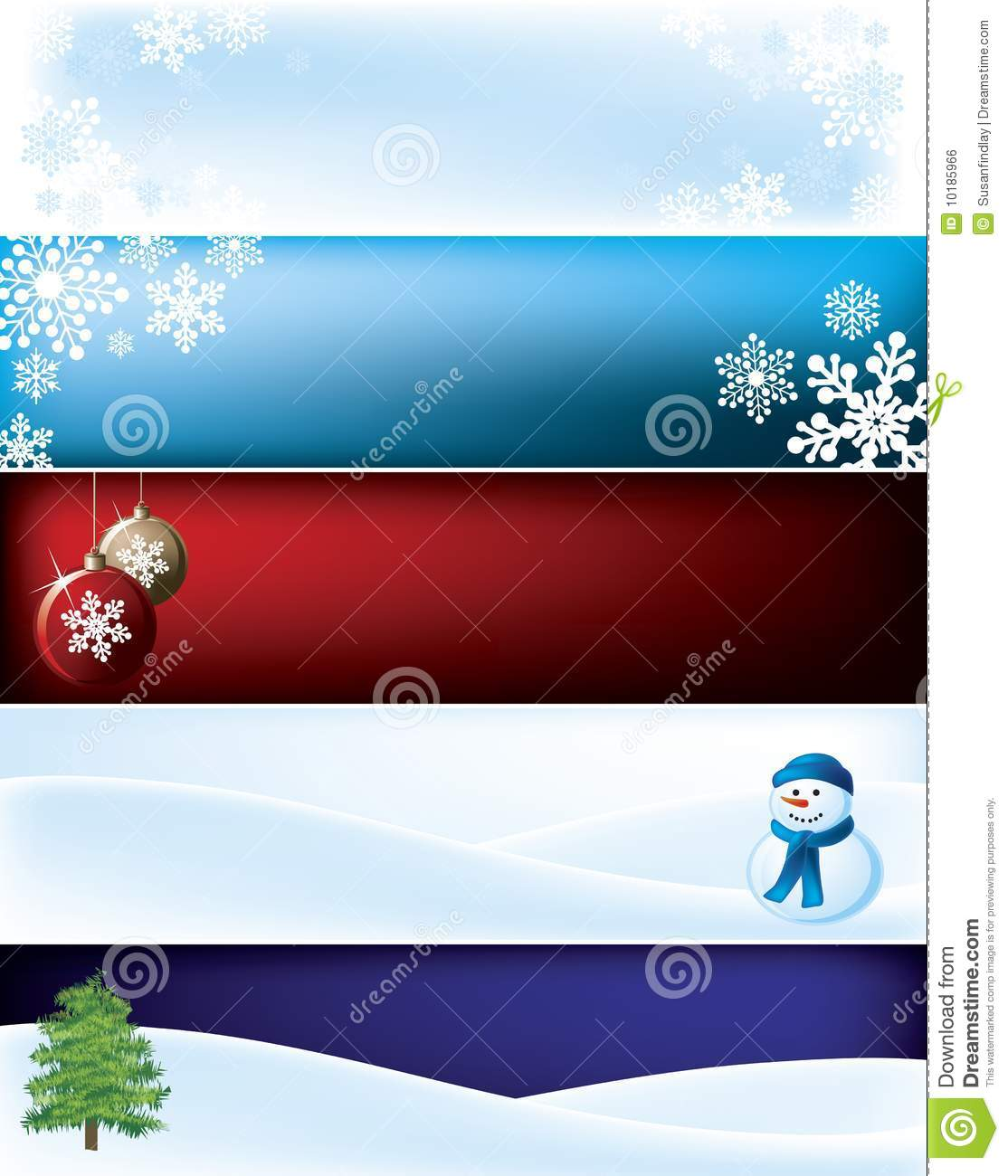 Christmas Banner Background Royalty Free Stock Image - Image: 10185966
