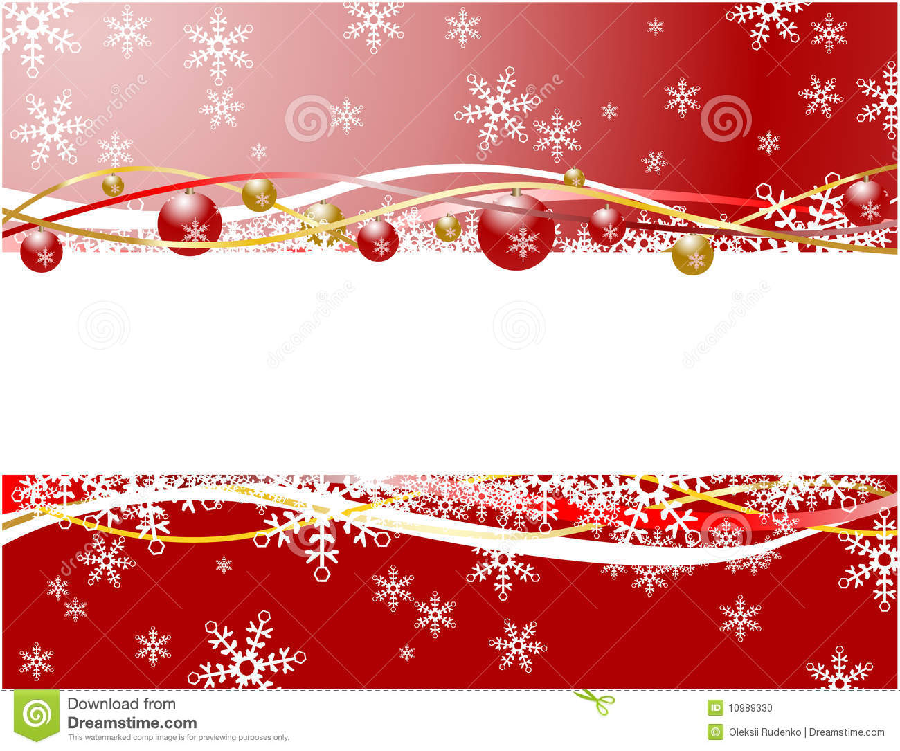 Christmas Banner Red Color Stock Photo - Image: 10989330