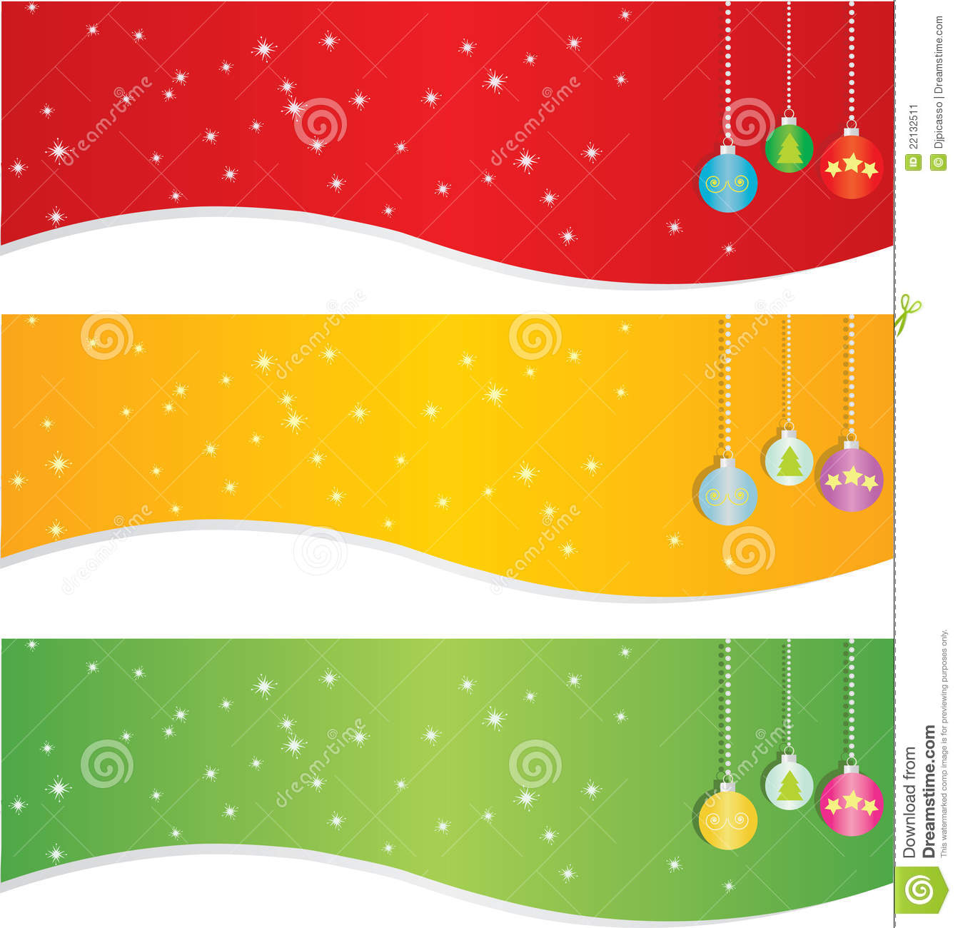 Christmas Banner Set Stock Image - Image: 22132511
