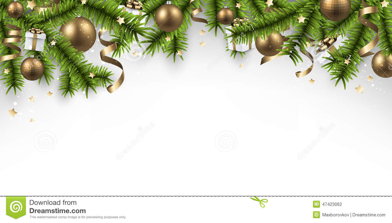 Christmas Banner With Spruce Branches. Stock Vector - Image: 47423062
