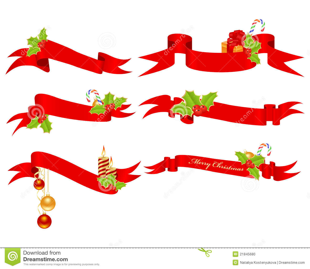 Christmas Banners Stock Photo - Image: 21845680