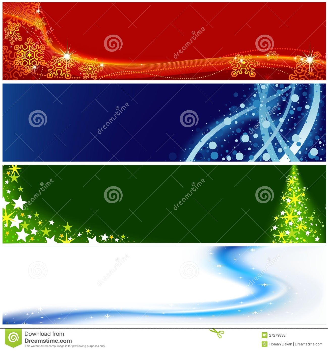 Christmas Banners Royalty Free Stock Photos Image 27279838