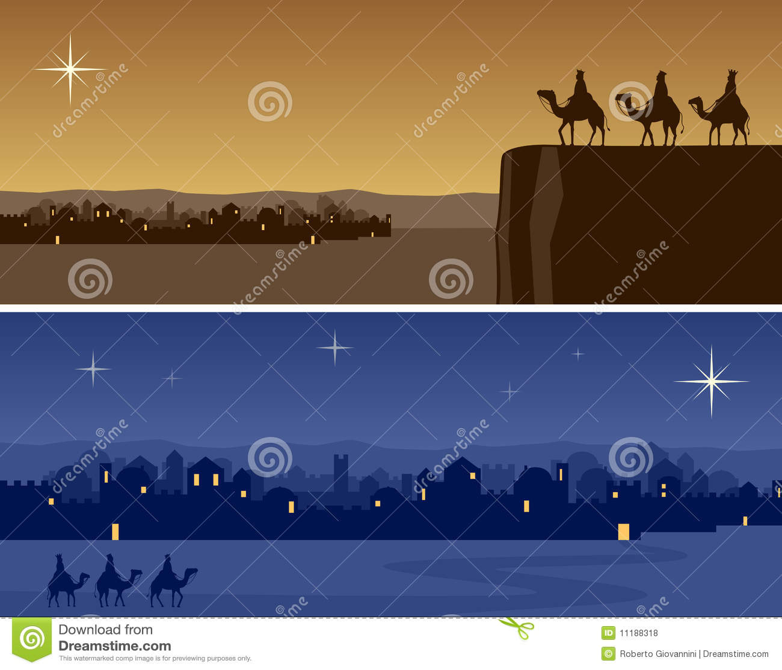 Christmas Banners - Bethlehem Royalty Free Stock Photos - Image ...