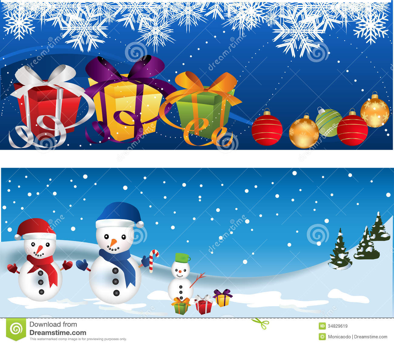 Christmas banners stock vector image of bird gift berry for Christmas decoration websites
