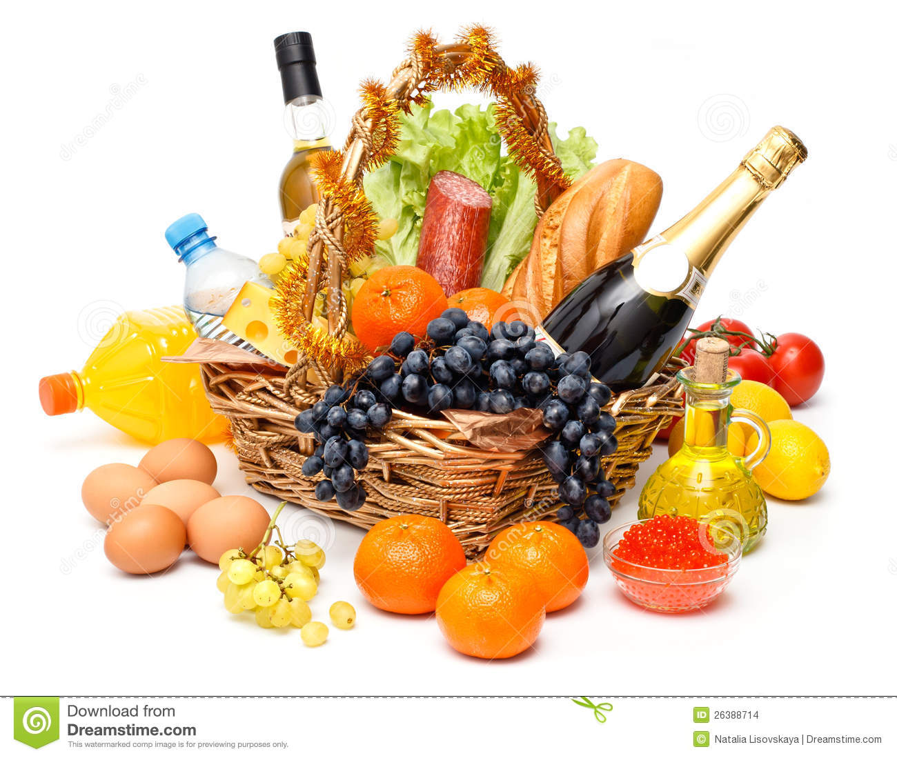 Christmas Basket Of Goods Stock Images - Image: 26388714