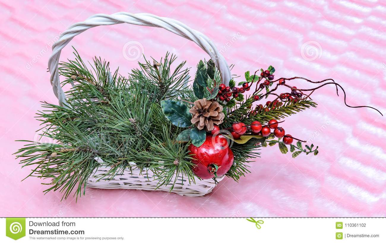 christmas basket to decorate any object