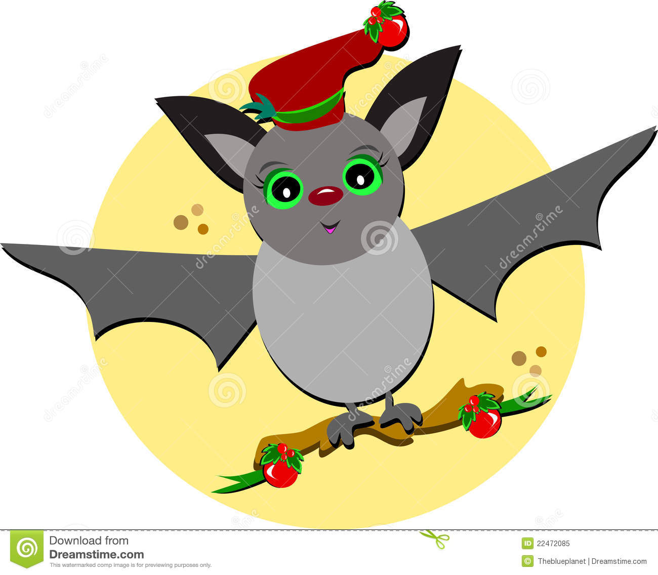 christmas bat in flight royalty free stock photo image free holly berry clip art holly berry images clip art