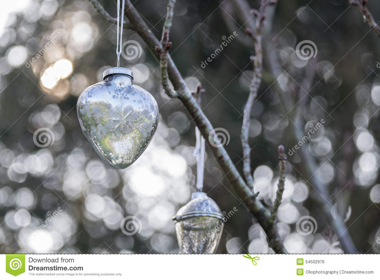 Christmas bauble hanging outside stock photo image 54502976 for Outside christmas baubles