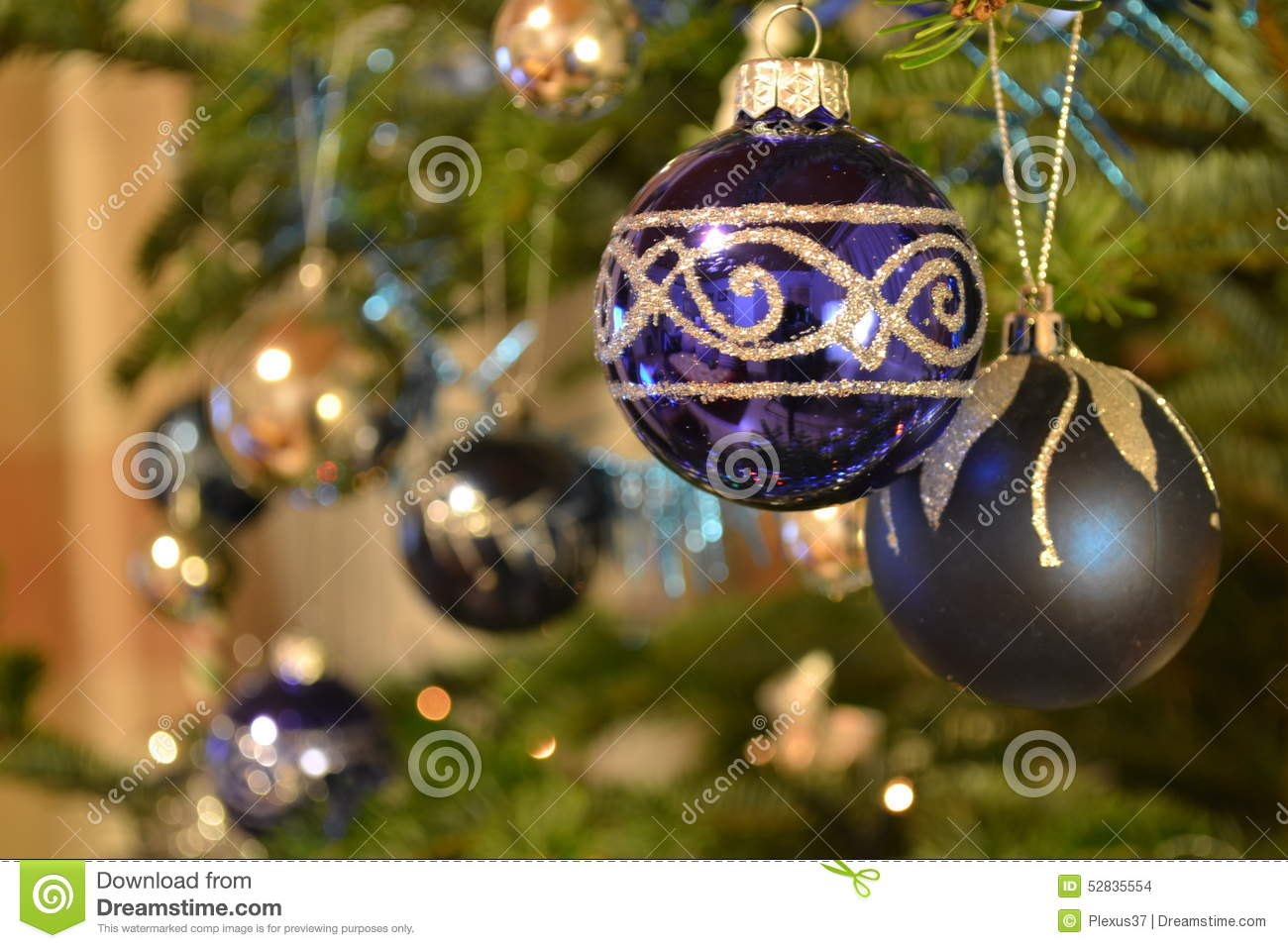 Christmas Baubles Stock Photo Image 52835554