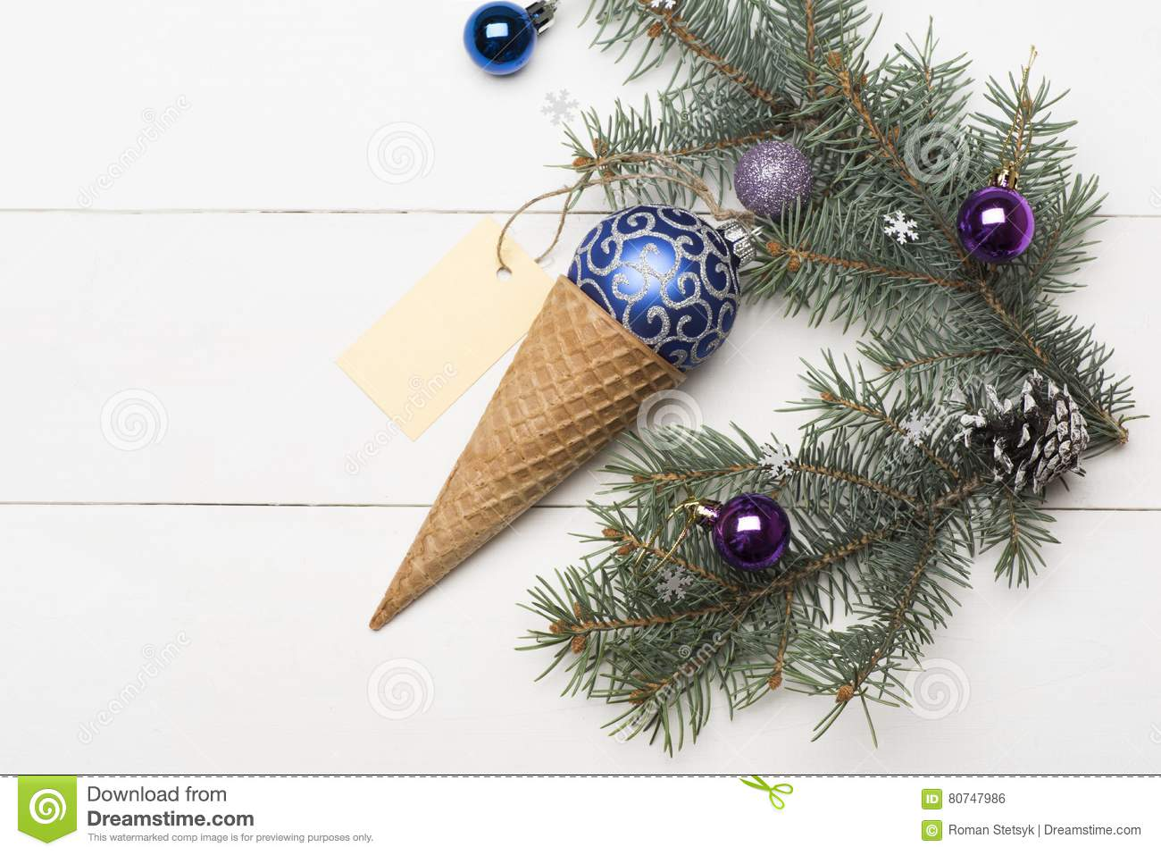 Christmas Baubles And Decorations Stock Photo Image Of Celebrating Vintage 80747986