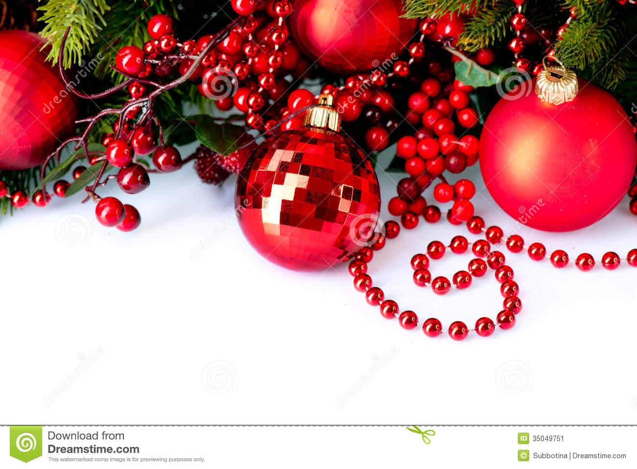 Christmas Baubles And Decorations Stock Image Image