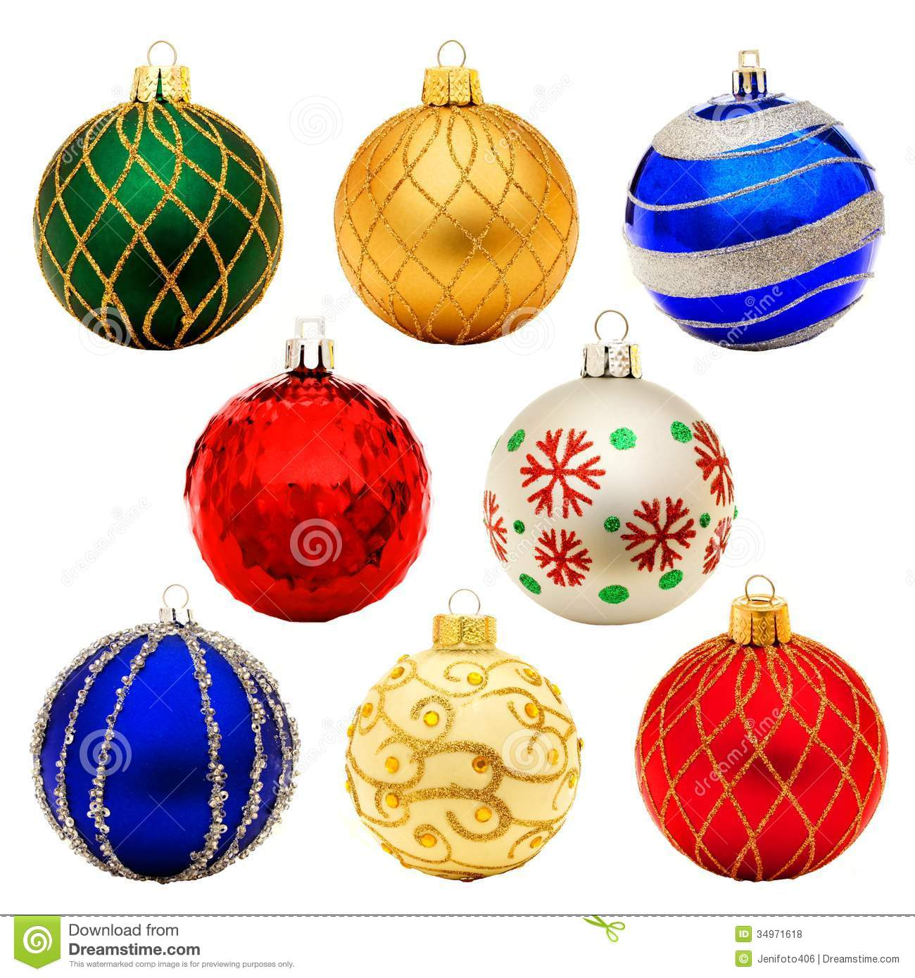 Old Fashioned Christmas Ball Ornaments