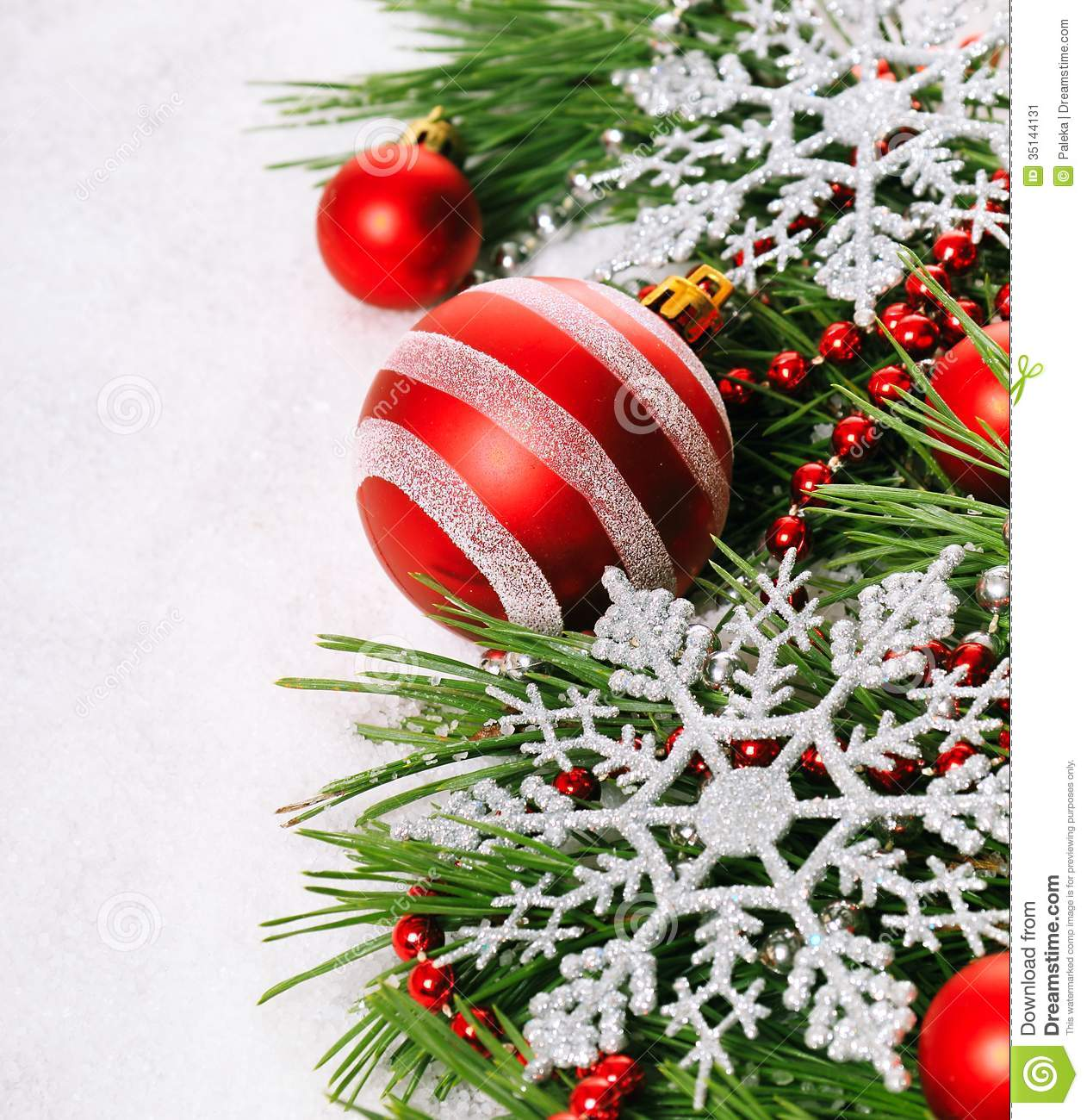 Christmas Baubles Stock Image Image 35144131