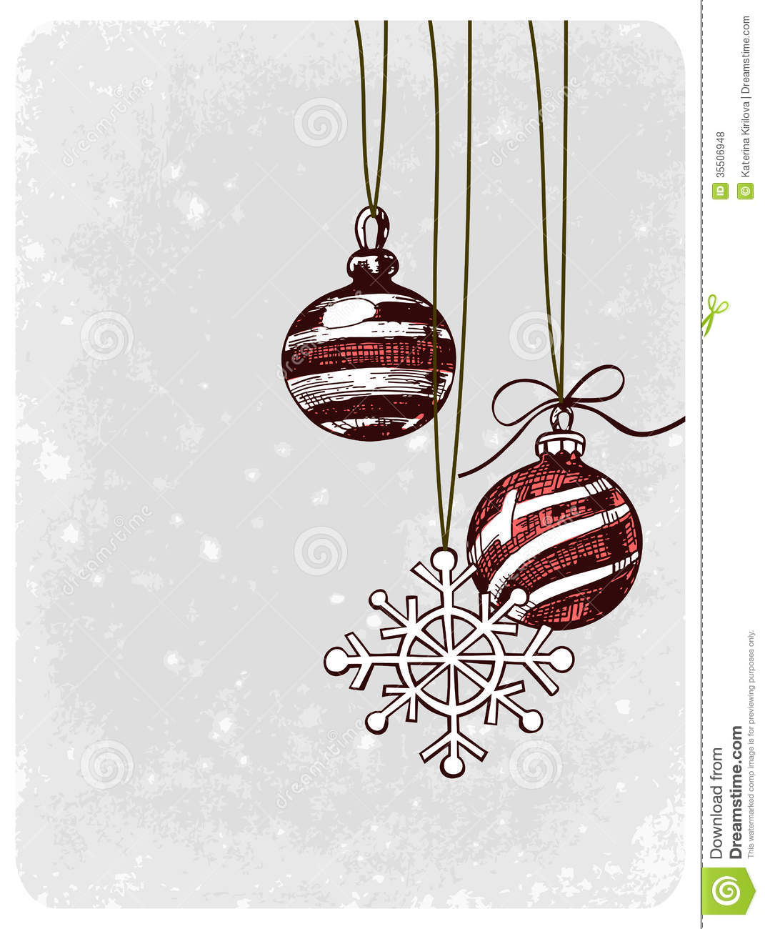 Christmas baubles stock vector image of ornament