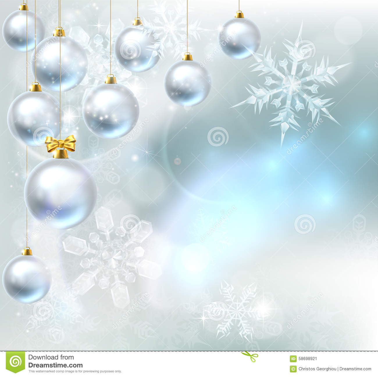 Christmas baubles snowflakes background stock vector for Abstract decoration