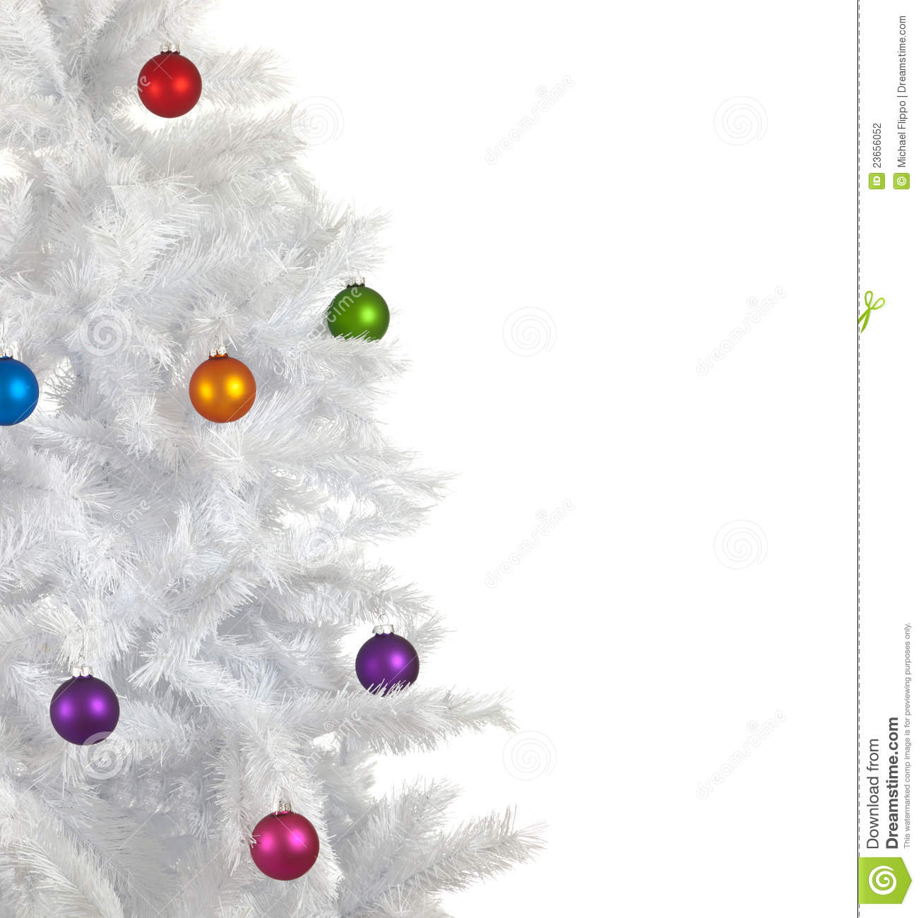 Christmas baubles on white background stock photography for White christmas baubles