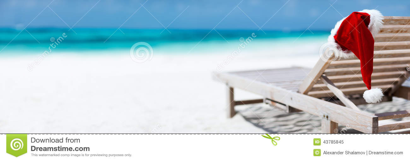 Christmas Beach Vacation Stock Photo Image 43785845