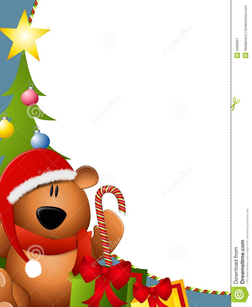 Christmas Toys Border : Christmas bear border stock illustration