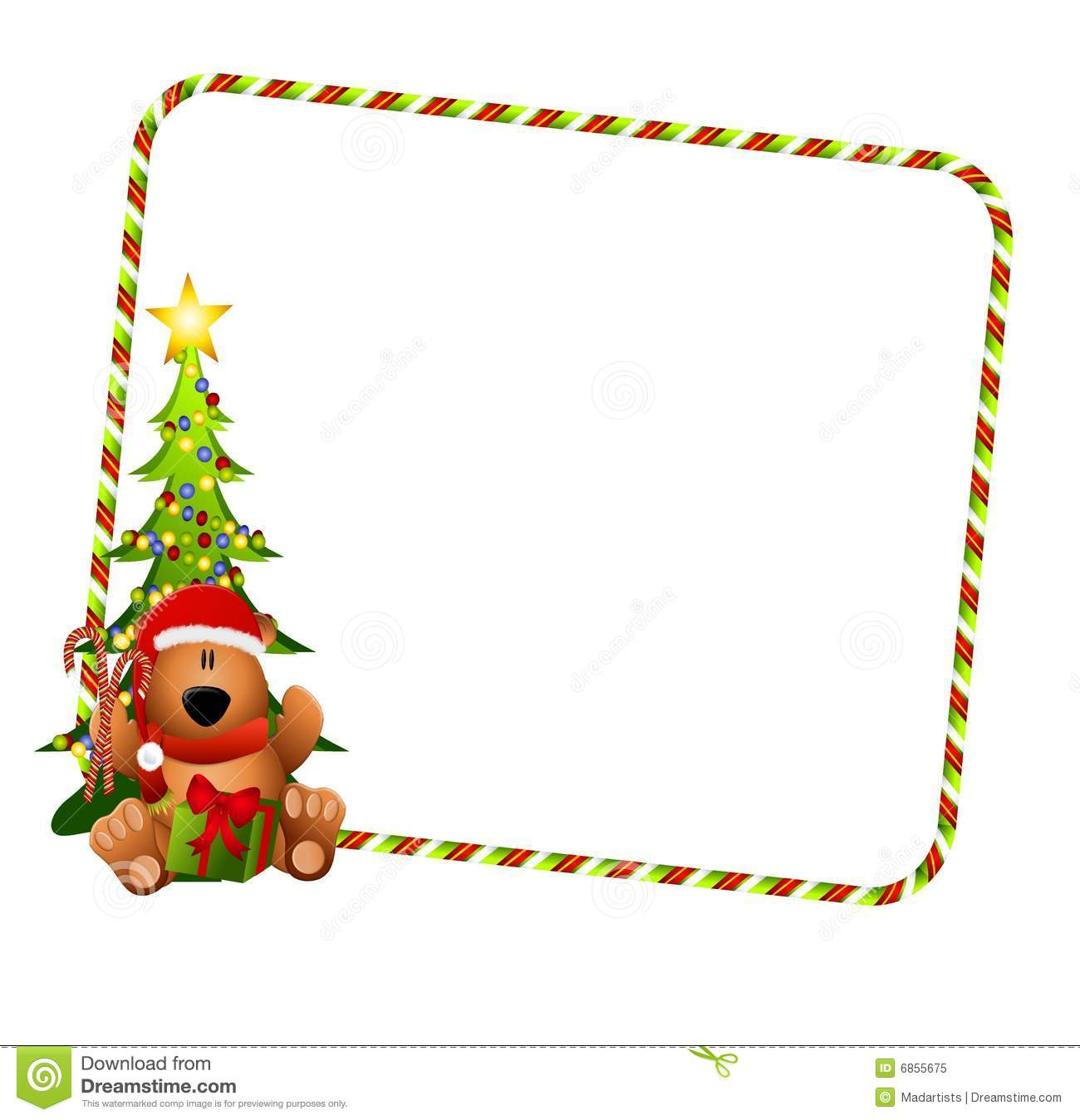 Christmas Bear Border Stock Illustration Illustration Of Image