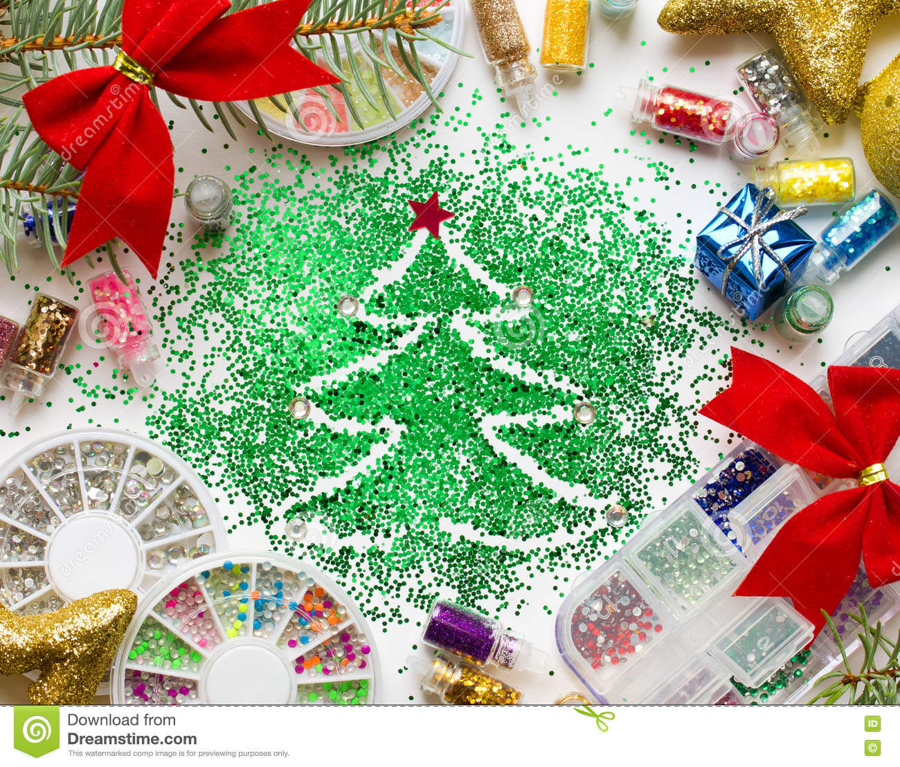 Christmas Beauty Salon.Christmas Beauty Salon Nail Festive Decorations And