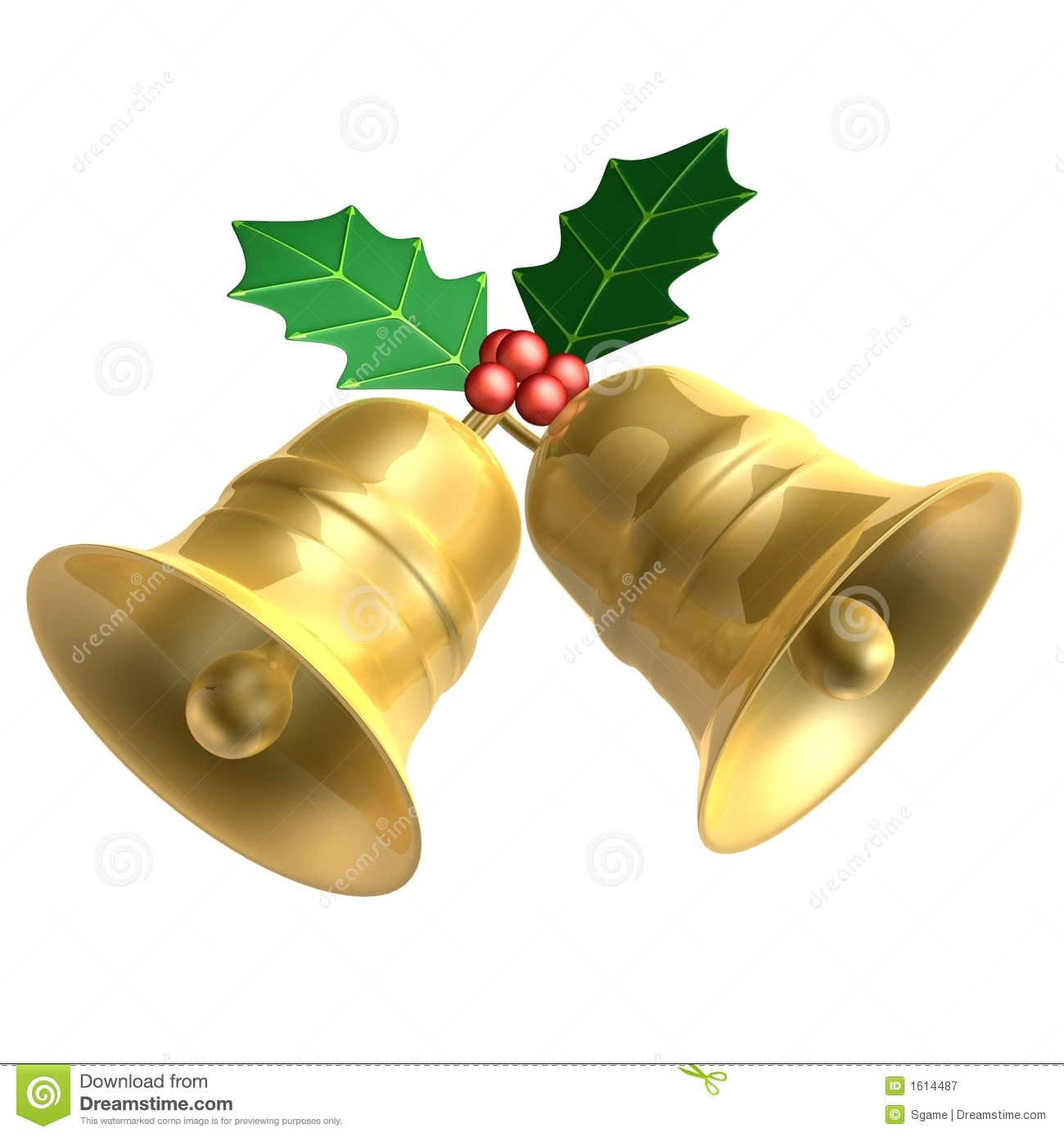 christmas bell royalty free stock photography image 1614487 Holly Leaf Clip Art holly leaves clip art black and white free