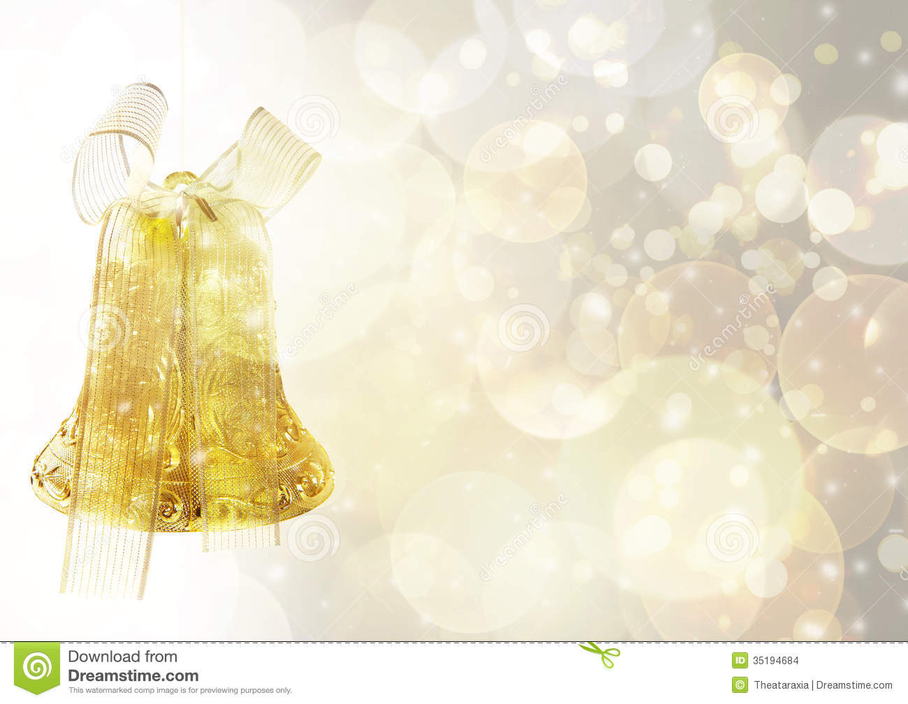 Christmas bell background stock illustration