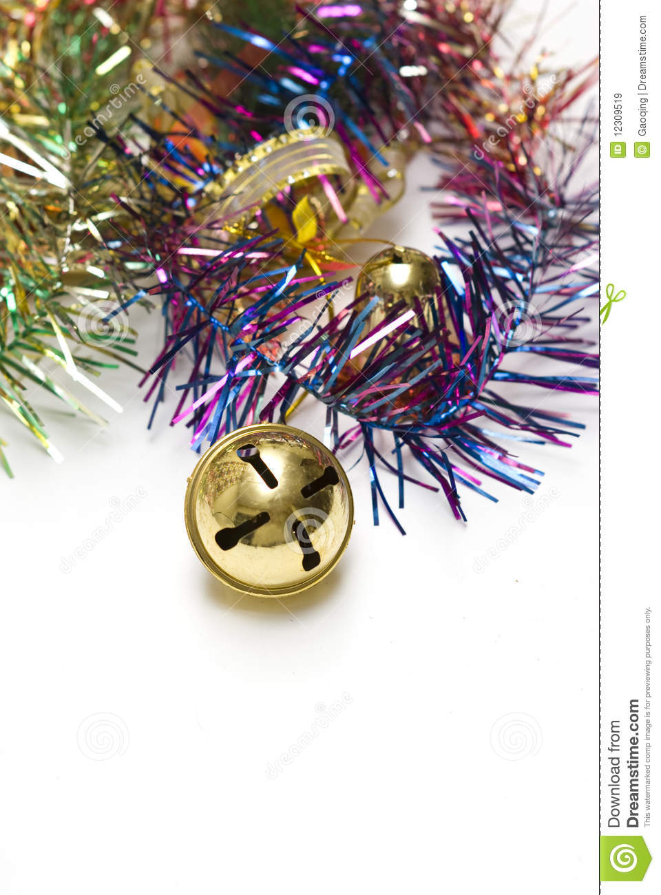 Christmas bell and borders decorations
