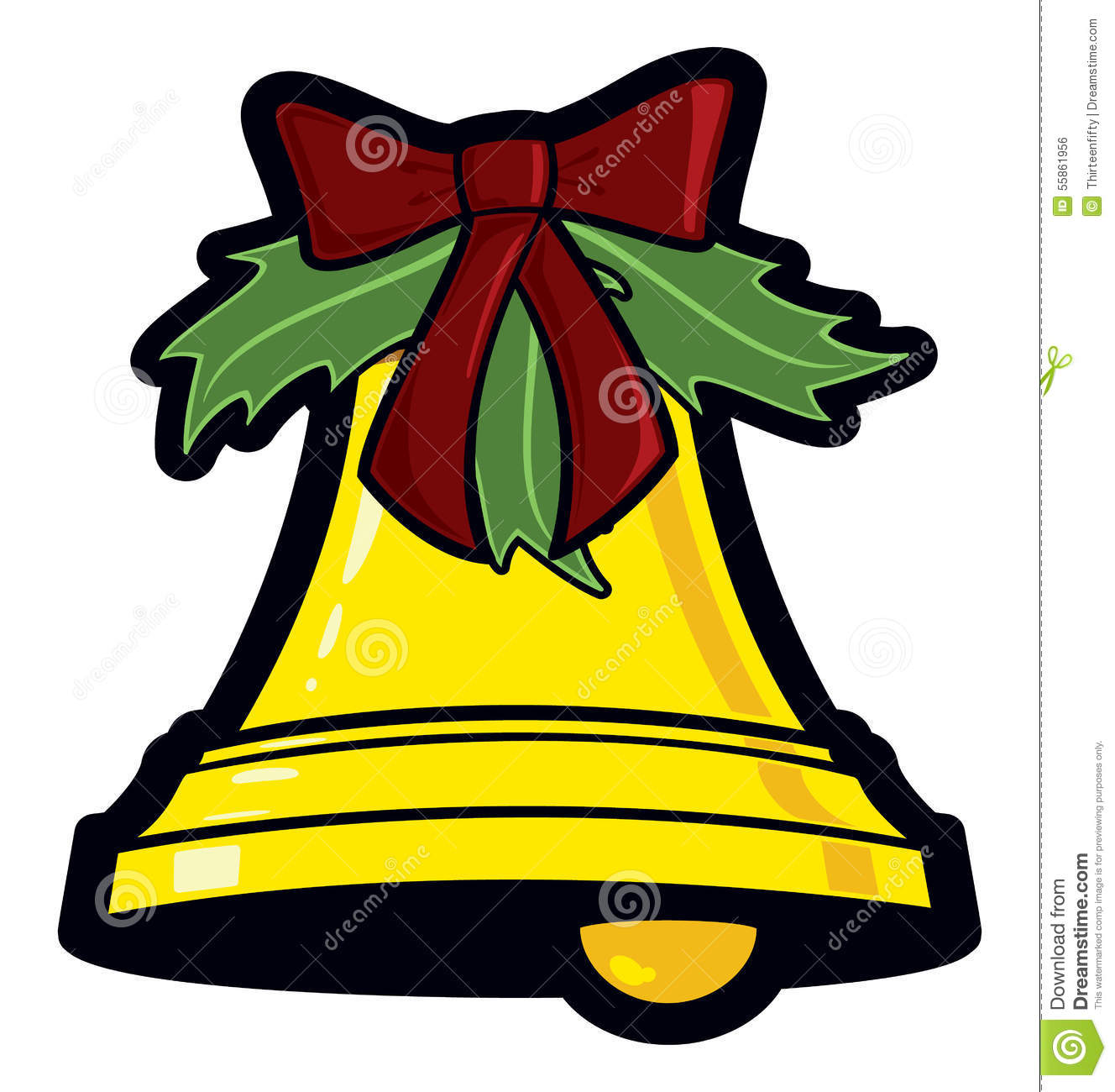 Christmas Bell Stock Vector. Image Of Decoration, Gold