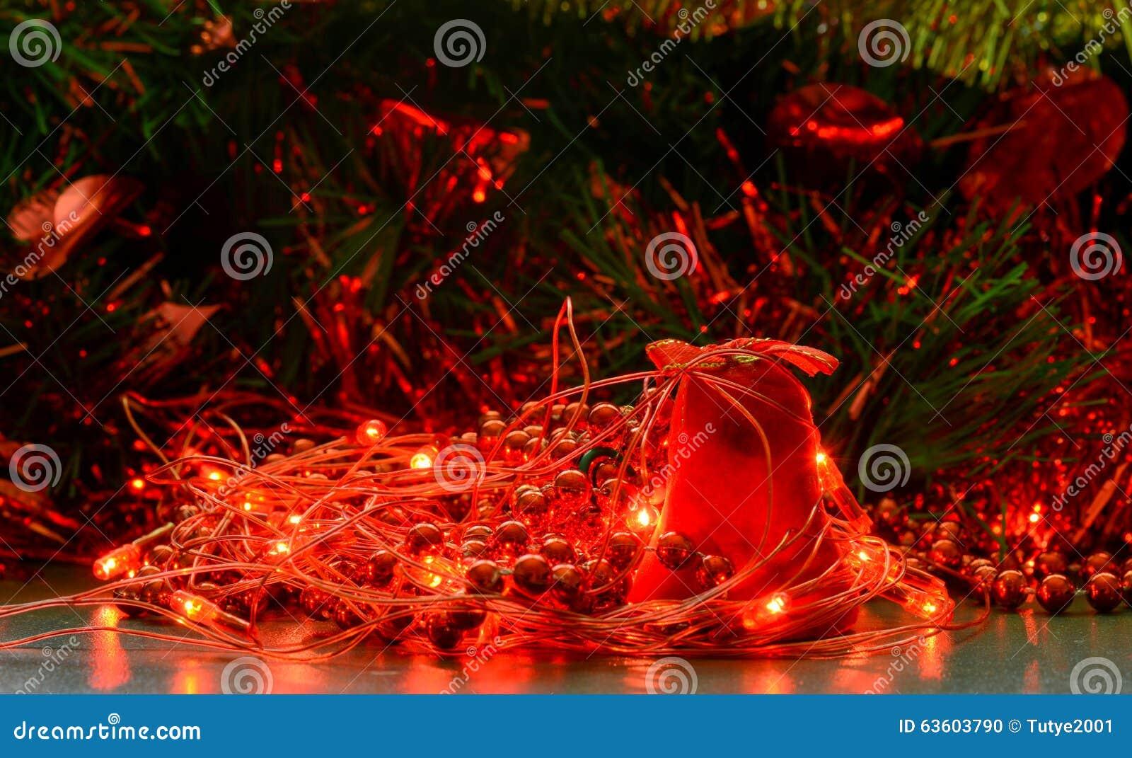 christmas bell and lights