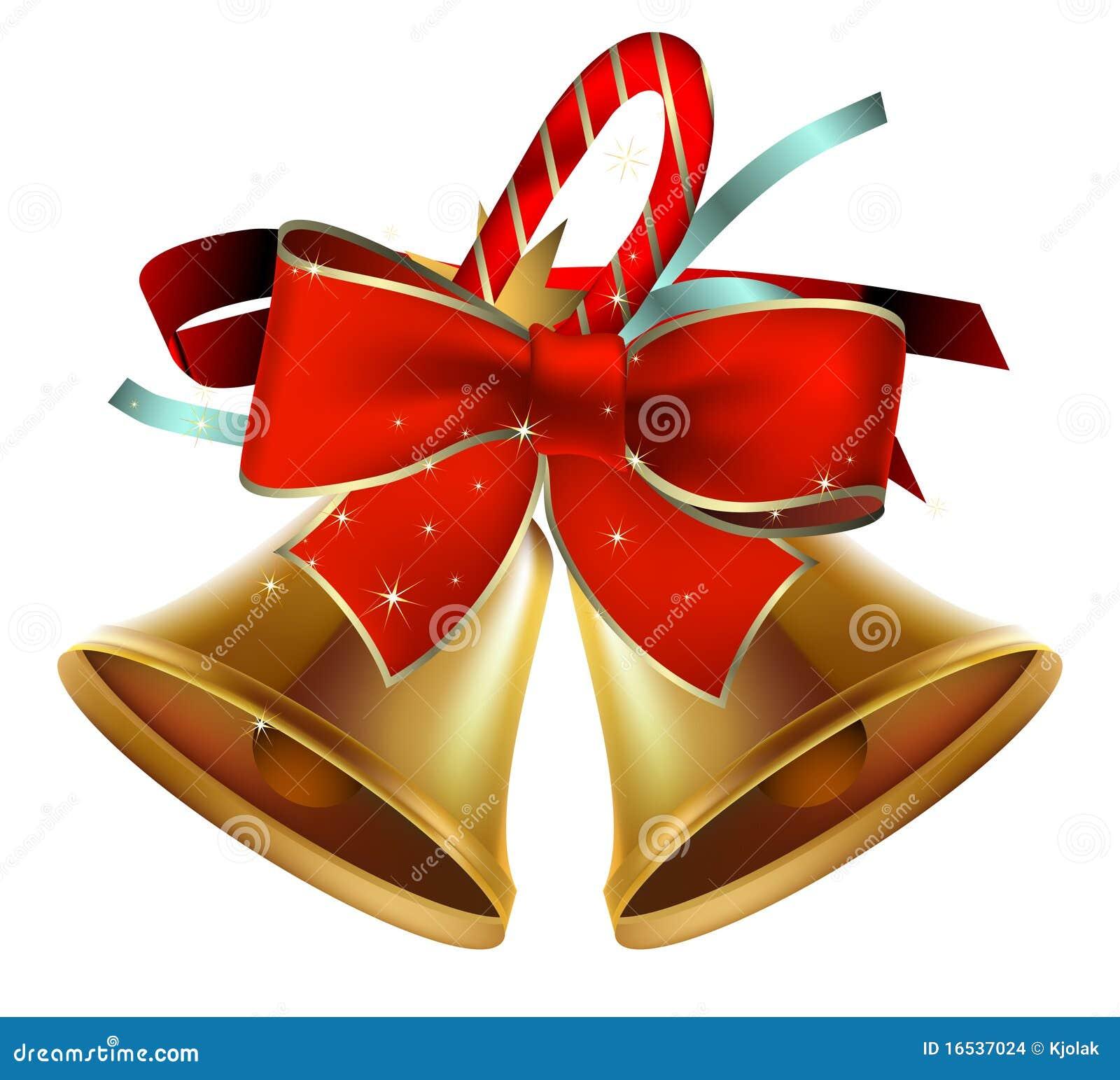 christmas bells stock vector image of ribbon bell. Black Bedroom Furniture Sets. Home Design Ideas