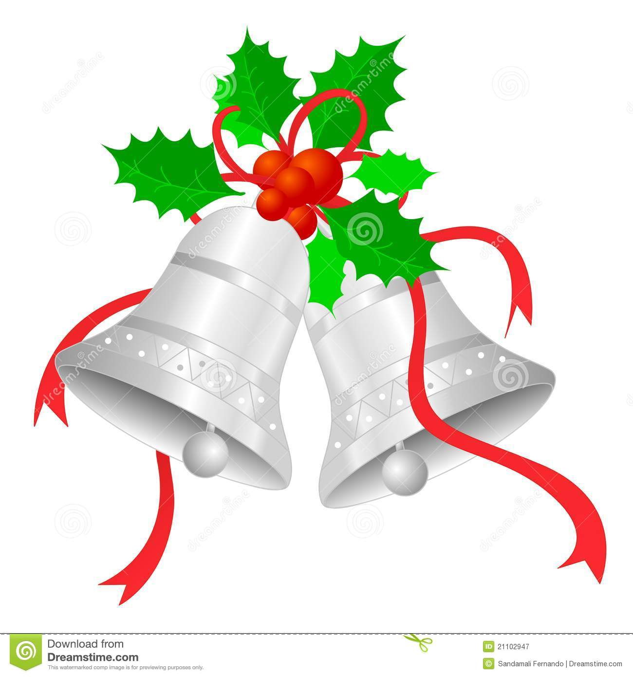Christmas silver bells silver bells stock photo image 21103040