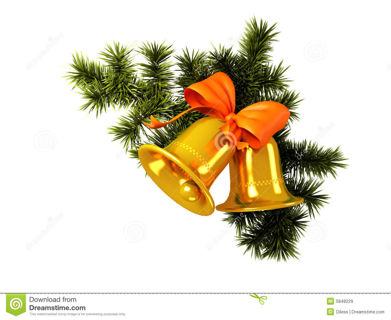 Christmas Bells Royalty Free Stock Images - Image: 5848229