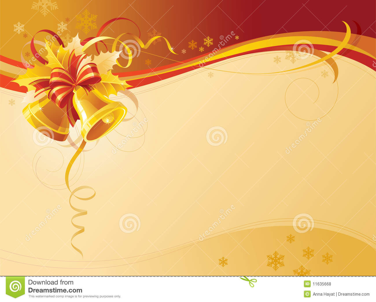 Christmas Bells Background Stock Vector Image Of Ribbon