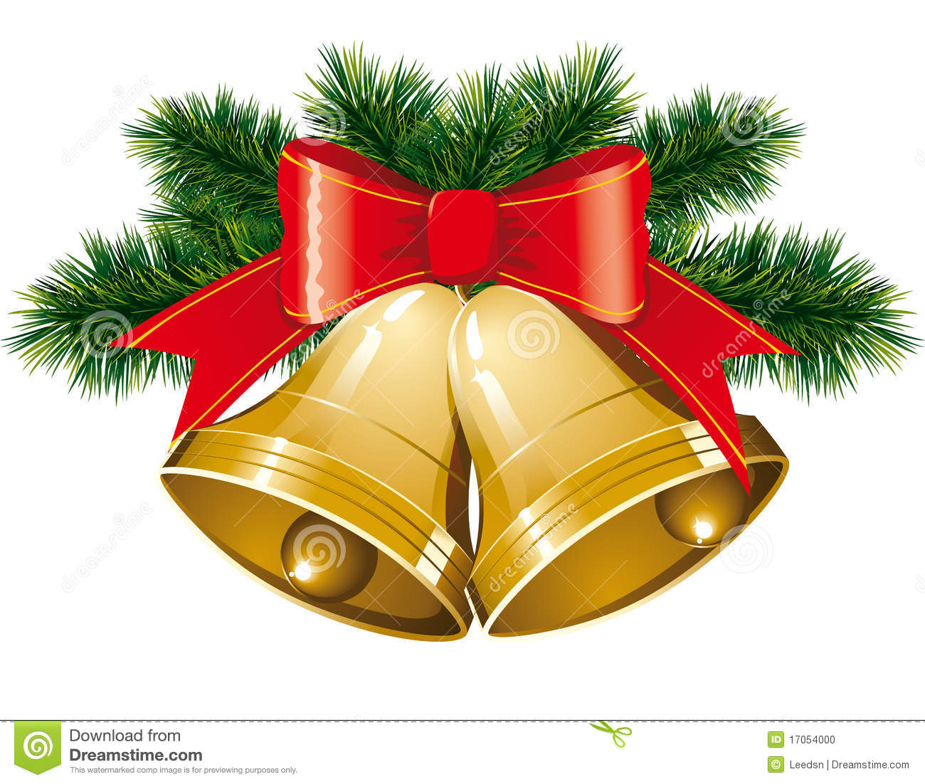 Christmas Bells With Christmas Tree Stock Photo - Image: 17054000