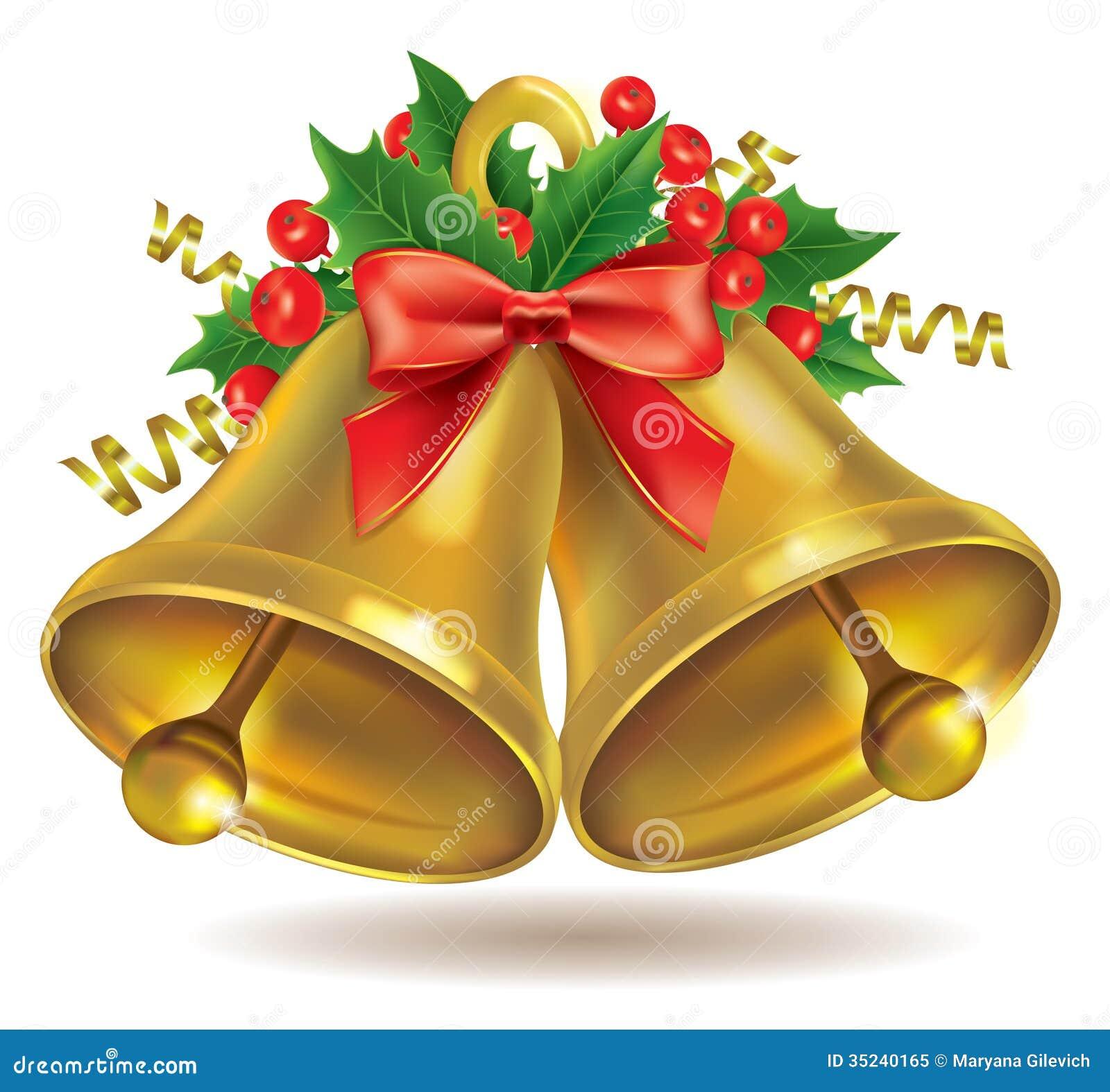 christmas bells stock vector illustration of cute holly. Black Bedroom Furniture Sets. Home Design Ideas