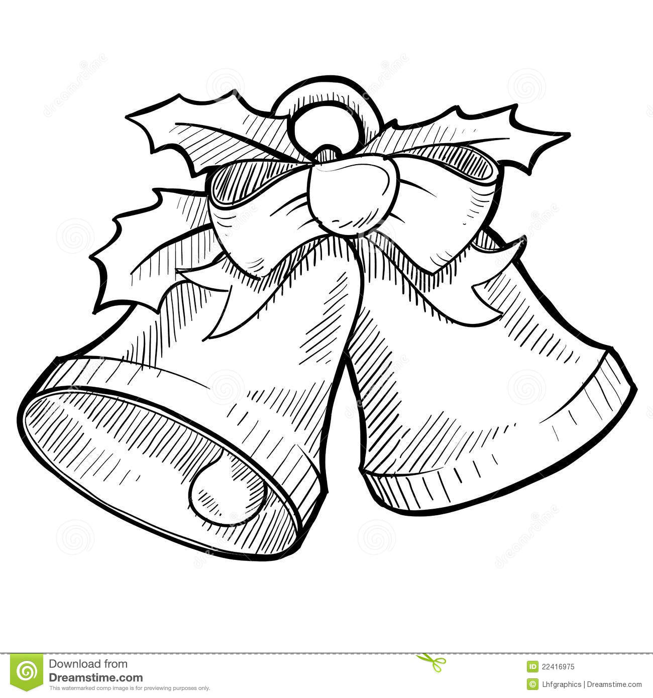 Christmas Bells Drawing Royalty Free Stock Photo Image