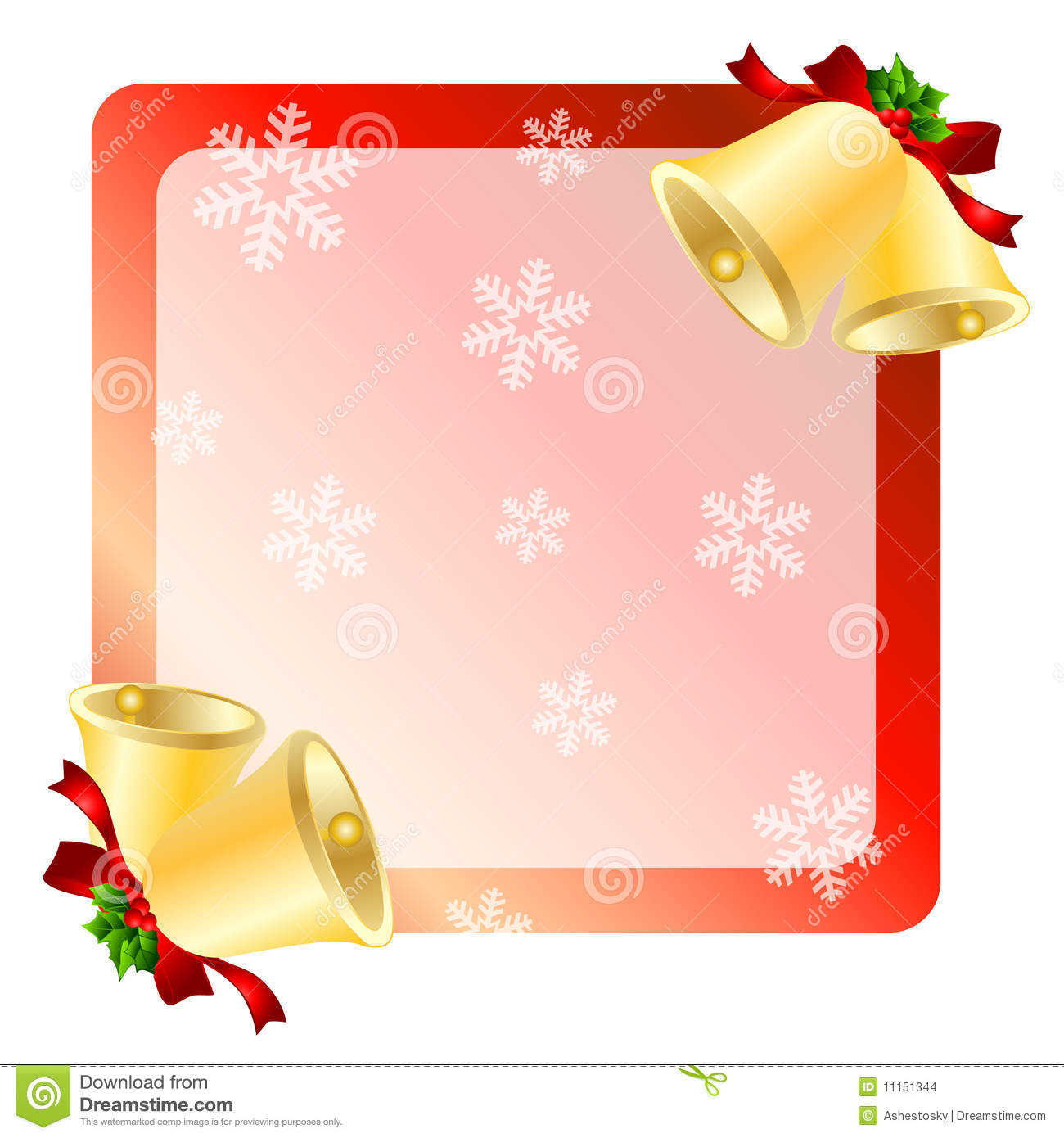 christmas bells greetings card stock vector image 11151344. Black Bedroom Furniture Sets. Home Design Ideas