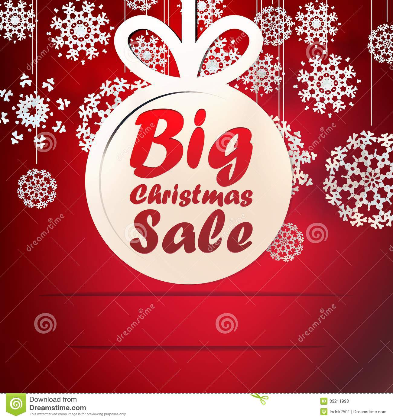 christmas big sale template with copy space  stock vector