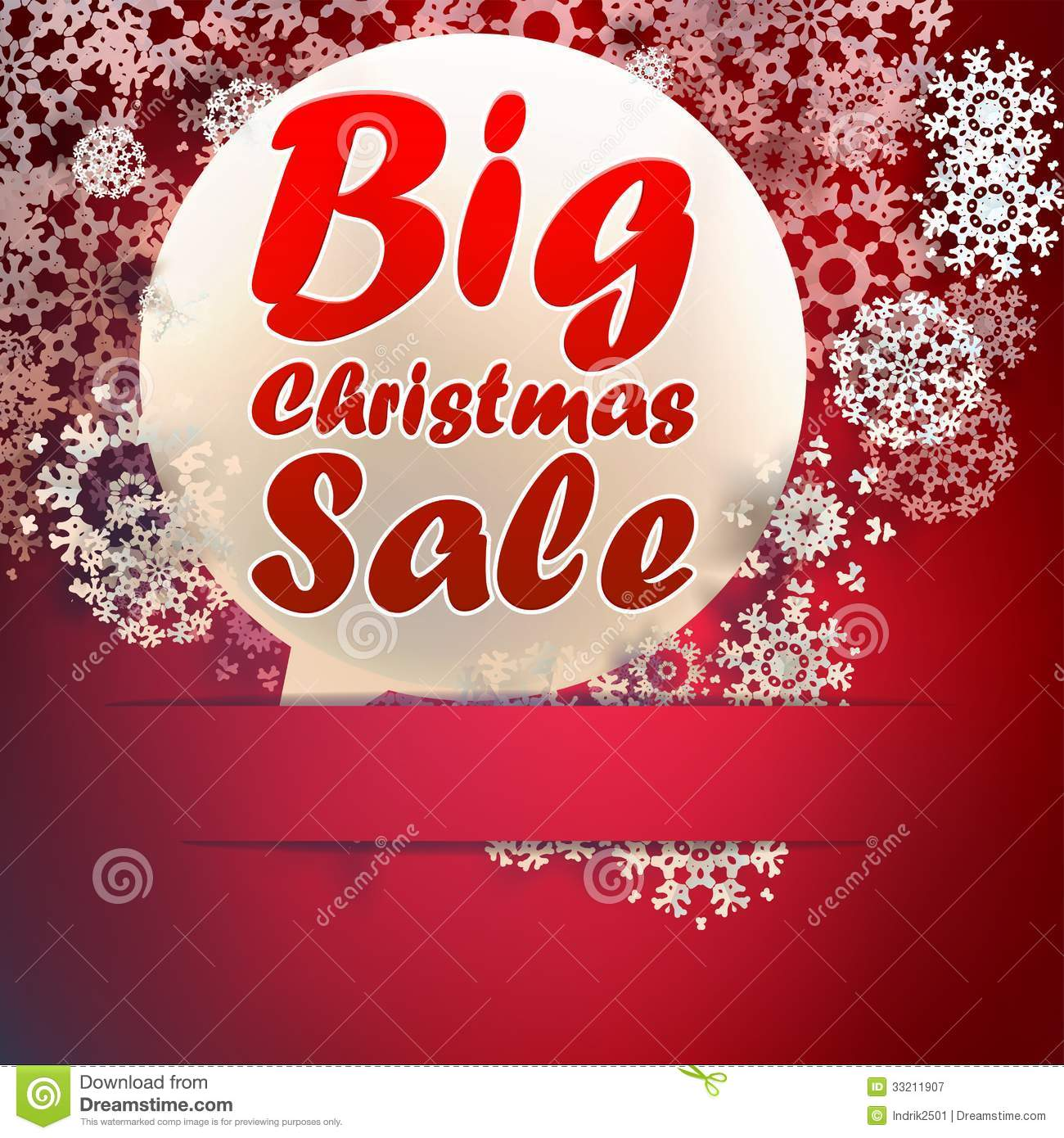 Christmas Big sale template.