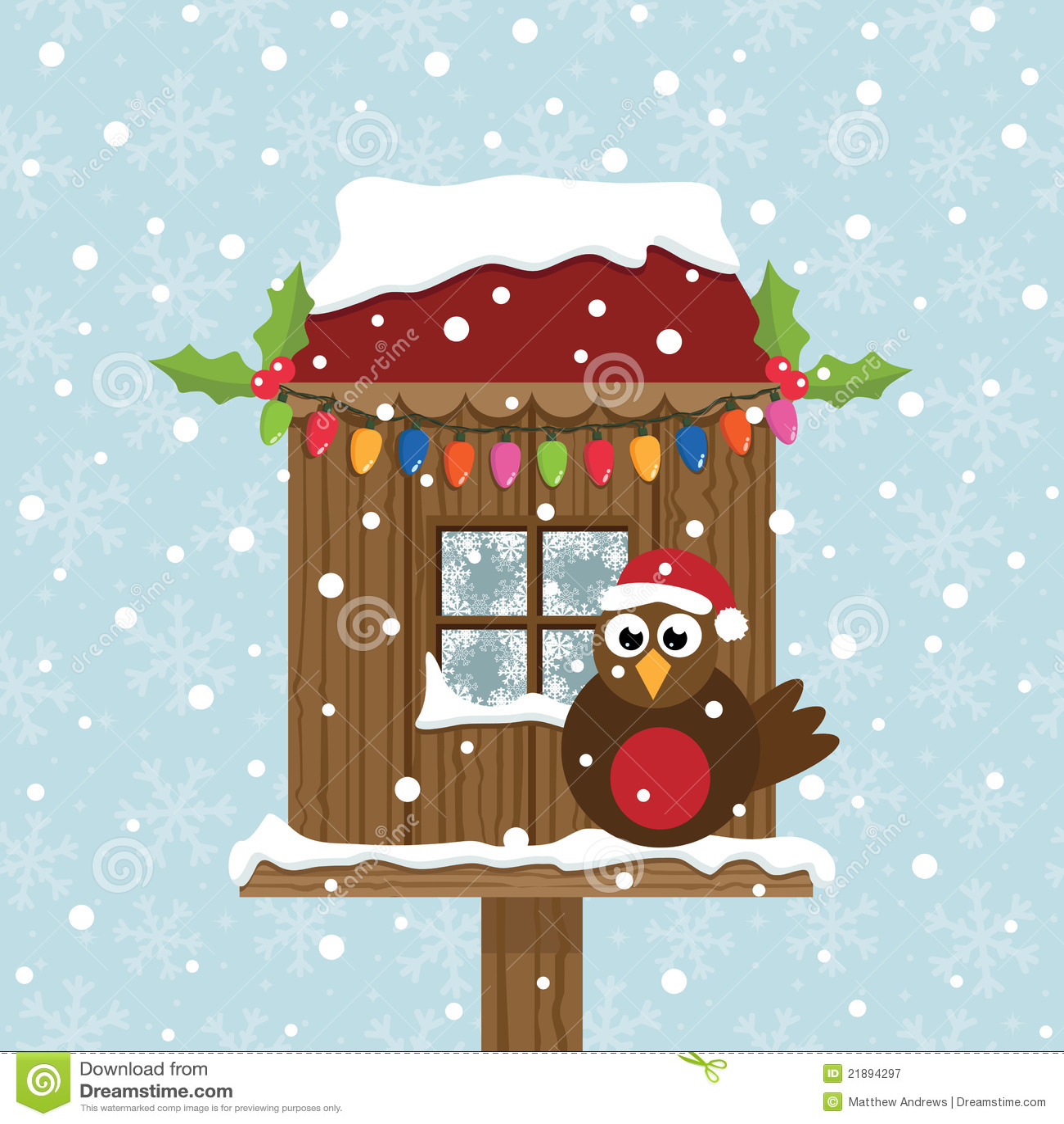 Christmas Birdhouses.Christmas Birdhouse Stock Vector Illustration Of Card