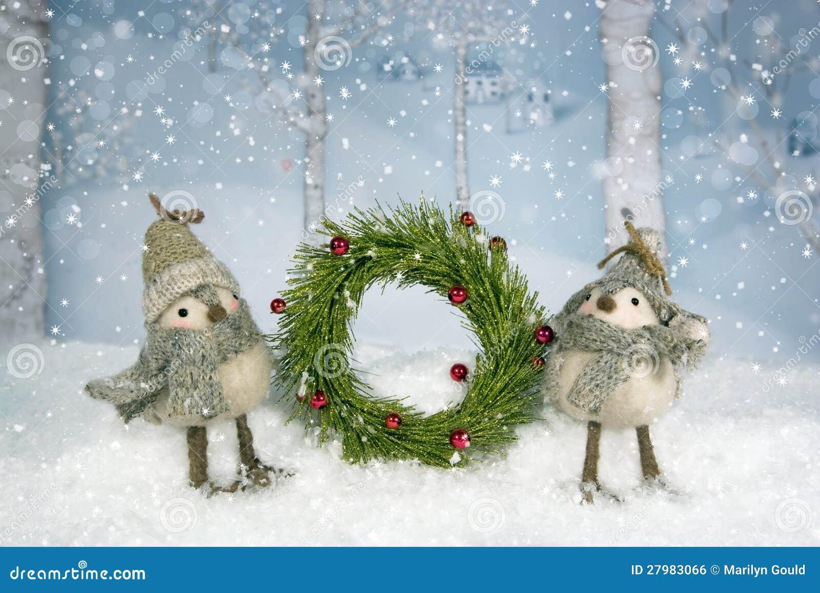 Christmas Birds Wreath