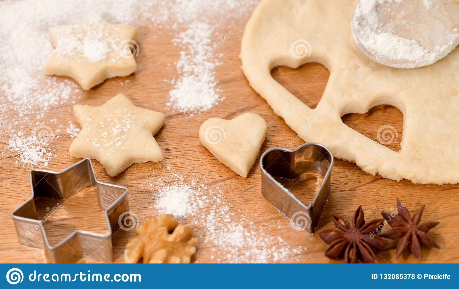 Christmas Biscuits Homemade Delicious Biscuits Stock Photo Image